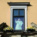 Image: Krakow Bishops Palace - the Papal Window, Krakow