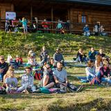 Playing under the Moon – concert in the hostel  at the Jasień mountain located in the Island Beskids range