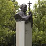Image: John Paul II Monument in the H. Jordan Park in Krakow