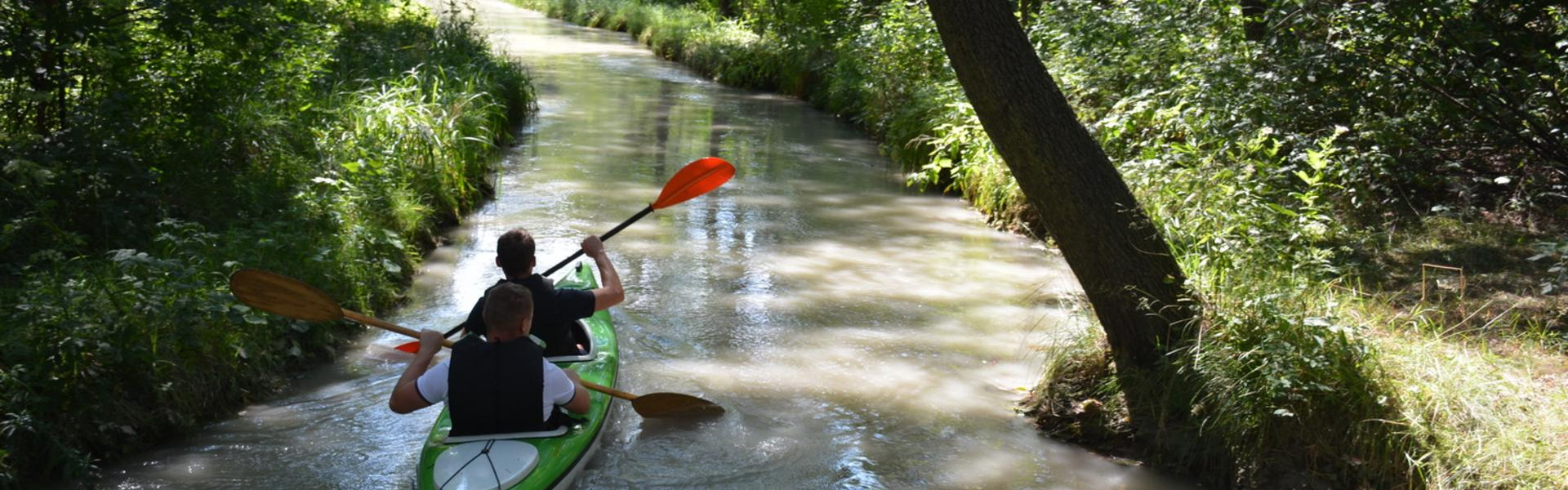 Image: Kayaking down the Sztoła River in Bukowno